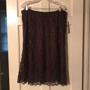 NEW Brown lace skirt